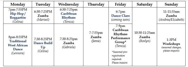 feb 2018 class schedule