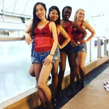 Season 1 dancers from left to right: Anina, Leslie, Sheila, Gosha
