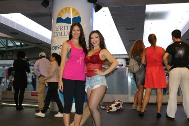 Co-owners Jamie Hartwell and Tereza Paraschivescu at Robson Square