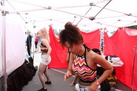 Tawni Krystal and Lennora Esi backstage at Carnaval Del Sol